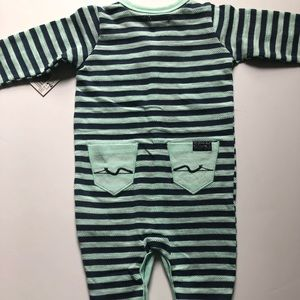 7 For All Mankind Baby Boys Striped Footie Pajama